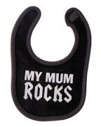 Mum Rocks Black Bib