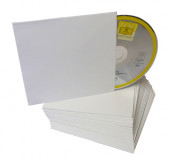 CD cardboard cover white