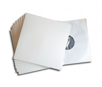 - LP cover white deluxe