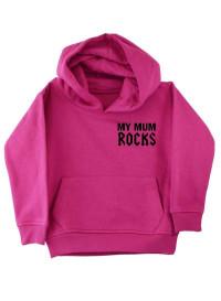 My Mum Rocks Pink Kids Pullover Hood