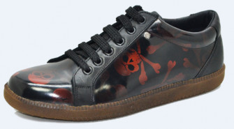 - 60's sneakers. Red skull rubb off. Laces