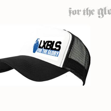 LXBLS White Trucker Cap