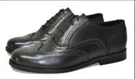 Gatsby brogue shoe Black grain leather