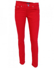 Red Low Rise Stretch Jeans