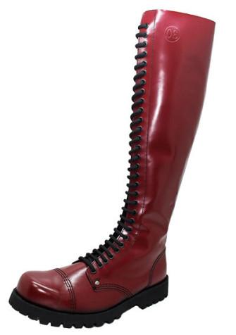 - 30 eye boot cherry leather