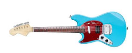 """- KURT COBAIN - NIRVANA:  """"Sonic blue"""" Mustang style."""
