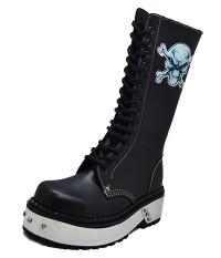 Angry skull punk boot
