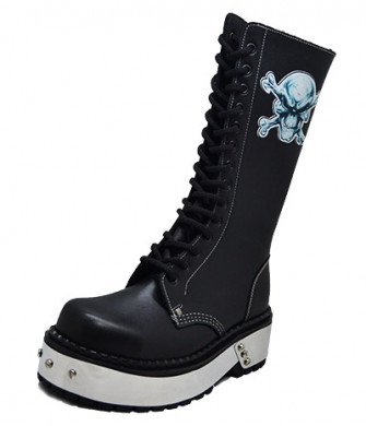 - Angry skull punk boot