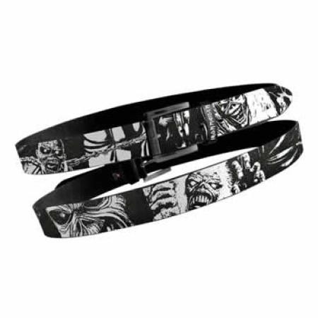 Iron Maiden Black Cracked Leather Belt
