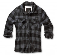 Check Shirt black grey checkered