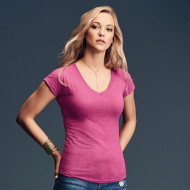 Anvil women's triblend v-neck tee