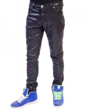 - Regular Rise Shiny Coated Skinny Jeans
