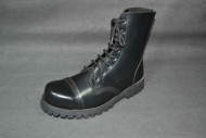 Steelground  Steel 8 eye boot black leather