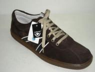 Two stripe sneaker brown suede