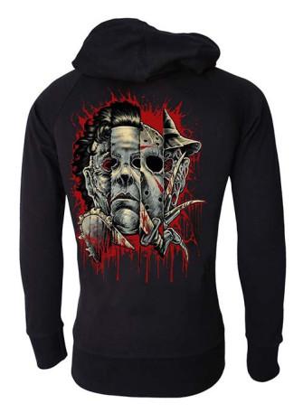 - Faces Of Horror Cotton Zip Hood