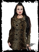 Double-breasted leopard pattern jacket