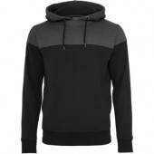 Block hoody black/charcoal