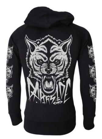 - Wolf Cotton Zip Hood