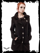 Hooded Jacket with Large Buttons
