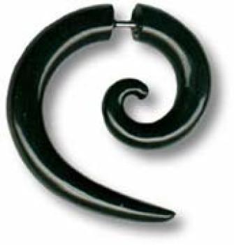 - Black Spiral Piercing