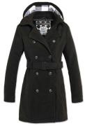 Girls Coat Long schwarz