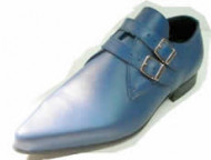 Steelground   Beat double buckle shoe blue leather 2 strap