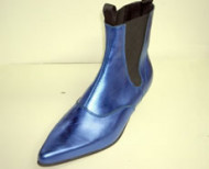 Steelground  Beat boot metalic blue leather