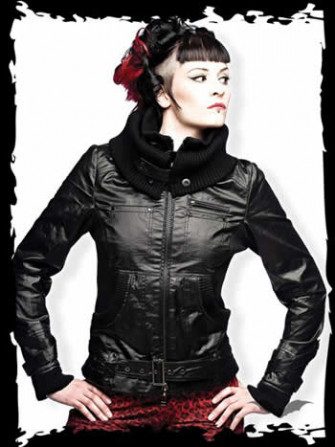 - Black Jacket with Belt Buckle