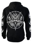 Pentagram Baphomet Fleece Zip Hood