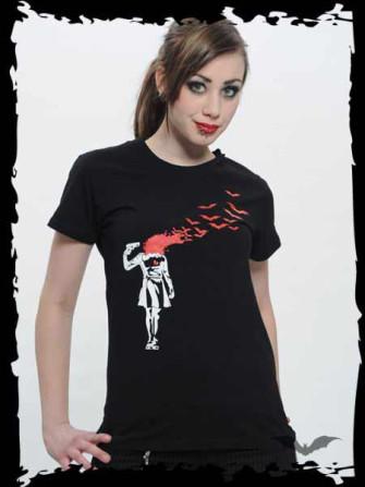 "- Black T-Shirt ""Shot in the Head"""