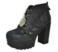 Rose Boot Black grain leather