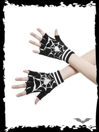 - Gloves with white spiderweb & spades