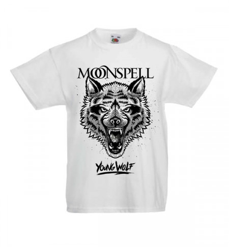 - Young Wolf (White, Kids Tshirt)