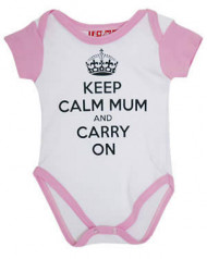 Keep Calm Mum and Carry On Baby Grow