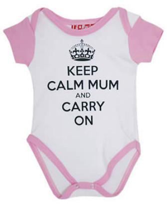 - Keep Calm Mum and Carry On Baby Grow