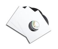 "Single cover cardboard white LP7"""