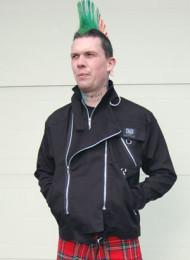 Black Cotton Zipped Jacket