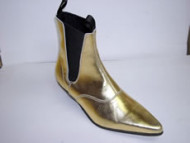 Steelground  Beat boot metalic gold leather