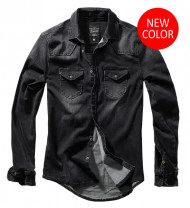 Riley Denim Shirt Black
