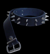2 Row Small Smooth Stud Leather Belt