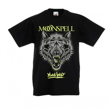 Young Wolf (Black, Kids Tshirt)