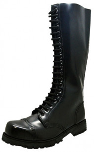 Steelcap boot - Black box leather 20 eyelets