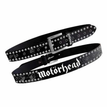 Motorhead Black Grommets Studs Belt