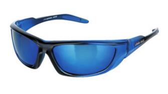 - Level One - Clear Mettalic Blue Sunglasses