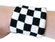 White Checkerboard Sweatband