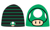 Nintendo - Black, Green Reversible Beanie