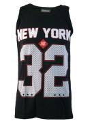 New York 32 Black Cotton Vest