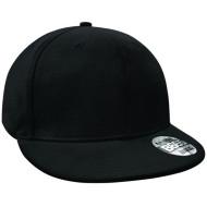 Pro-stretch flat peak cap (Black)
