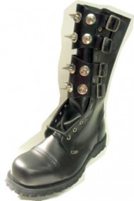 Steelground  Steel Sharp boot black leather
