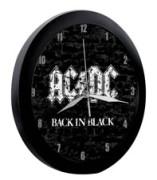 Black in Black Plastic Wall Clock